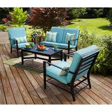 Walmart Patio Tables Only by Mainstays Rockview 4 Piece Patio Conversation Set Seats 4