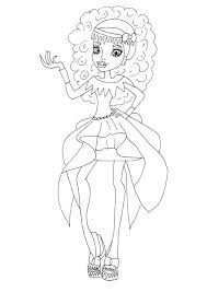 Free Printable Monster High Abbey Bominable 13 Wishes Coloring Page