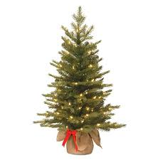National Tree Company 3 Ft Pre Lit Spruce Slim Artificial Christmas With 50