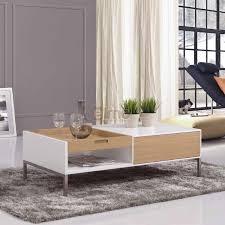 basse contemporaine bois laqué blanc