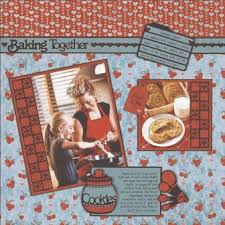 scrapbooking cuisine baking together scrapbook layout from paper wishes favecrafts com