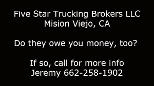 Five Star Trucking Brokers LLC - YouTube Five Star Trucking Australian Heavy Truck Fatalities Transport Industry In Cris With Nz Main Test Ticks All The Boxes Class A Cdl Driver Sand Hauler Nd Fire Equipment And Apparatus Sale Information Krp Returns To Mercedesbenz Dealer Bell Truck Van For Bifold Alinum Atv Loading Ramp 1500lb Load Aggregate Excavating Ltd Opening Hours 23 Fosgate Inc Home Facebook Western Trucks 5700xe Brokers Llc Youtube Us Prices Are About Rise Even More Bloomberg