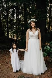 Super Cute Flower Girl And Bohemian Bride