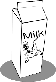 Milk Jug clipart black and white 6