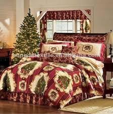 100 Cotton Printed Christmas Tree Bedding Sets