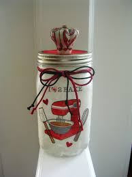 Lovely Red Mason Jar Kitchen Decor