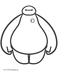 Baymax Is A Robot Member Of The Superhero Team Enjoy This Free Coloring Page For Kids From Upcoming Disney Movie Big Hero
