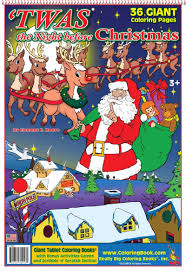 Twas The Night Before Christmas Giant Tablet Coloring Book 14x20 ColoringBook Really Big Books Inc 9781619530416 Amazon