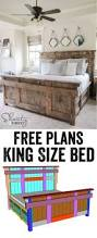 diy king size bed free woodworking plans and tutorial by www