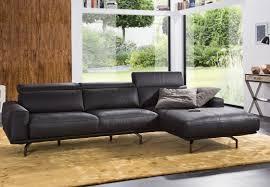 canape d angle 3 place canapé design cuir ou tissu avec chaise longue am chelsea
