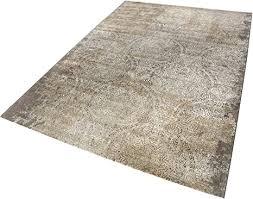 neo vintage i moderner glänzender kurzflor teppich läufer
