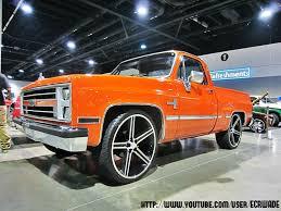 Hugger Orange Chevrolet Silverado Shortbed on 26