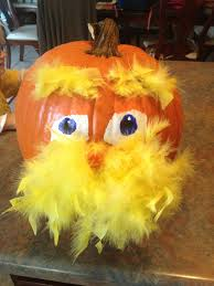 Minion Pumpkin Template Paint by Lorax Pumpkin Feather Boa Paint And Candy Pumpkin For Nose