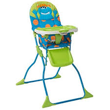 amazon com cosco simple fold deluxe high chair monster syd baby