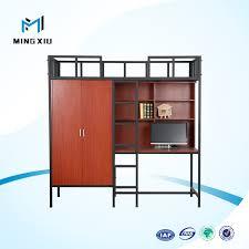 bureau superposé chine fournisseur bas prix lit superposé avec bureau d ordinateur