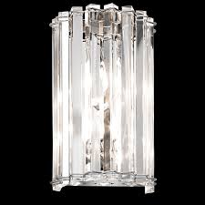 2 light halogen wall sconce in chrome