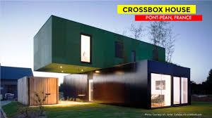 100 Crossbox House By CG Architectes Ecofriendly Shipping Container House In Pont Pan 35 France