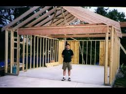 diy video how to build your own garage from start to finish and