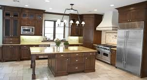 fascinating stock kitchen cabinets island with multi light