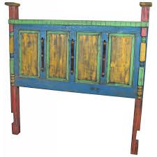Impressive Design Ideas Painted Mexican Furniture Rustic Wood Bed