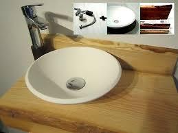 kleinkompletter massiv esche holz waschbecken