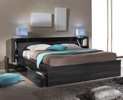 chambre avec tete de lit tête de lit avec rangements 140 cm contemporain chambre