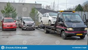 100 Tow Truck Accident Broken Car On After Traffic Stock Image Image