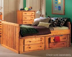 Trendwood Bunk Beds by Trendwood Bunkhouse Roper Captains Bed Complete Cinnamon