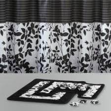 Black And White Flower Shower Curtain by Country Shower Curtain Sets Double Swag Bathroom Shower Curtain