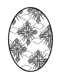 Easter Egg Cross Coloring Pages