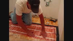 install warmup electric floor heating mat using edge kits