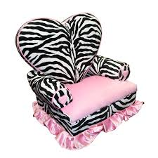 Amazoncom Newco Kids Princess Heart Chair Minky Zebra Baby