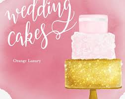 Cakes Clipart INSTANT DOWNLOAD Wedding Cakes Clipart Wedding Clipart Watercolor Cakes Clipart