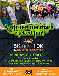 Pumpkin Patch Rochester New York by Monster Scramble 5k 10k And 1 Mile Trick Or Treat Walk Kids Out