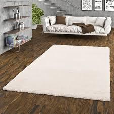 luxus hochflor shaggy teppich beige