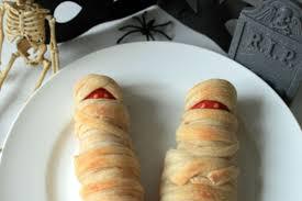 Halloween Hotdog Fingers Recipe by Scary Mummy Dogs Not Quite Nigella