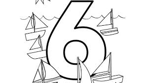 Six Sailboats Steer The Seas Help Your Grandkids Practice Numbers With This Free Printable Coloring Page