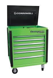 100 Service Truck Tool Drawers Cornwell Quality S Pro Series Neon Green 6 Drawer Cart No