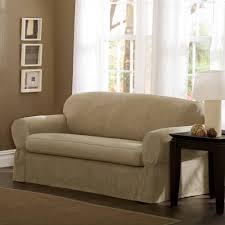 Sectional Sofa Slipcovers Walmart by Living Room Sure Fit Ultimate Stretch Sofa Slipcover U0026 Reviews
