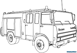 Coloring Pages Fire Truck | Coloring Pages For Kids