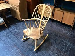 Windsor Chairmakers Rocking Chair By Ercol, Blonde, Elm And ...