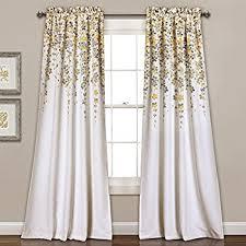amazon com lush decor forest window curtain panel set of 2 84