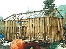 Building A Wood Shed From Recycled Wooden Pallets With