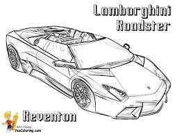 Car Coloring Page Lamborghini Reventon 3 4 Top View At YesColoring