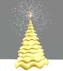 GOLD CHRISTMAS TREE WITH SNOW AND SHINE STARX MAS ANIMATED ROTATION