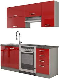 mirjan24 küche multiline ii 180 cm küchenblock küchenzeile