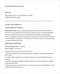 Fast Food Cashier Resume Template