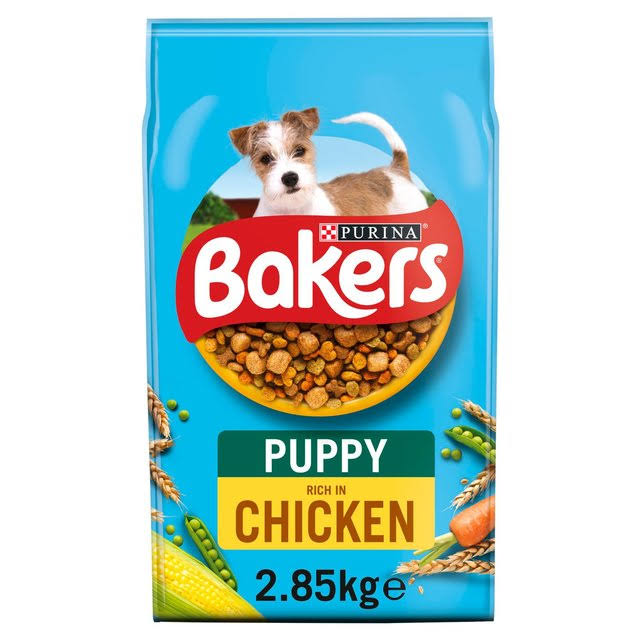 Bakers Puppy Dry Dog Foods - Chicken and Vegetable, 2.85kg