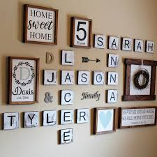 I love my four kids This is perfect for a gallery wall Scrabble