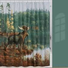 Buy Shower Curtain Moose from Bed Bath & Beyond